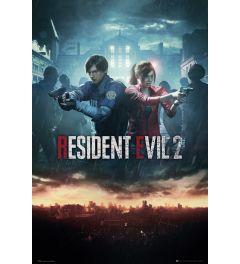 Resident Evil 2 City Key Art Poster 61x91.5cm