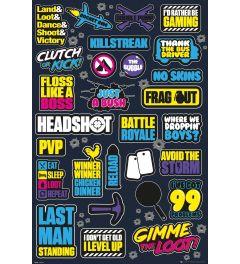 Battle Royale Infographic Poster 61x91.5cm