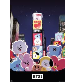 BT21 Times Square Poster 61x91.5cm