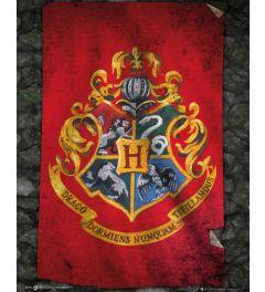 Harry Potter - Hogwarts Flag Poster 40x50cm