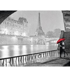 Paris Poster Eiffel Tower Kiss 40x50cm