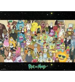 Rick And Morty Cast Poster 40x50cm