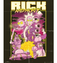 Rick And Morty Poster Action Movie 40x50cm
