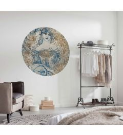 Goddess Self-adhesive Wallpaper Circle ⌀125cm
