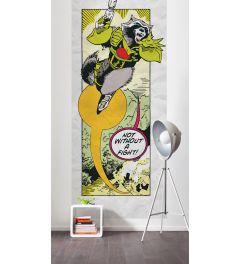 Guardians Retro Comic Rocket Raccoon 2-part Wall Mural 100x200cm