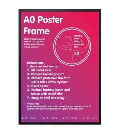 Frame A0 Black 84,1x118,9cm MDF