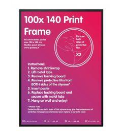 Frame Black 100x140cm Wood