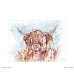 Highland Cow Art Print Jennifer Rose 30x40cm