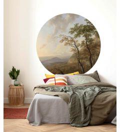 Horizon Self-adhesive Wallpaper Circle ⌀125cm