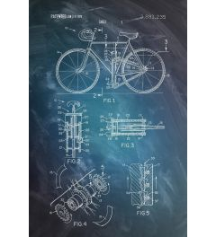 Bicycle Patent Drawing Poster 61x91.5cm