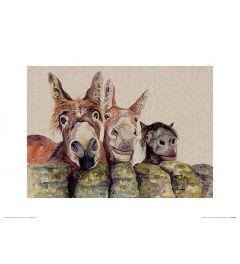 Johnny, Freckles & Halfpint Art Print Jane Bannon 30x40cm