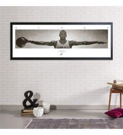 Michael Jordan Wings Framed Poster MDF Black 53x158cm