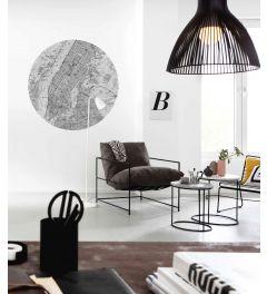 Map Self-adhesive Wallpaper Circle ⌀125cm