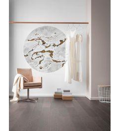 Marble Vibe Self-adhesive Wallpaper Circle ⌀125cm