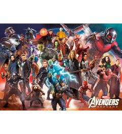 Marvel Avengers Endgame Line Up Poster 140x100cm