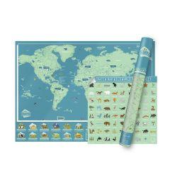 Scratch Wild World Map  82.5 x 59.4 cm