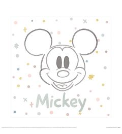 Mickey And Friends M Is For Mickey Art Print 40x40cm