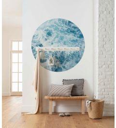 Ocean Twist Self-adhesive Wallpaper Circle ⌀125cm