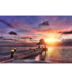 Sunset Maldives 7-piece Photo wallpaper 350x260cm
