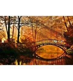 Bridge In Misty Park 7-piece Photo wallpaper 350x260cm