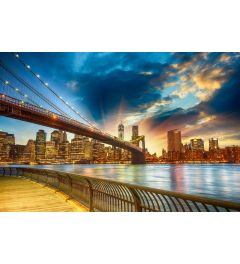 Manhattan Sunset 7-piece Photo wallpaper 350x260cm