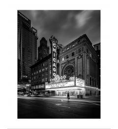 Chicago Theater B&W Art Print