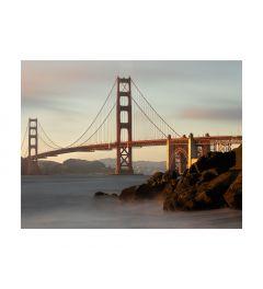 Morning Lights Golden Gate Bridge Art Print