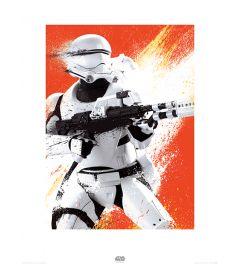Star Wars Flametrooper Paint Art Print 60x80cm