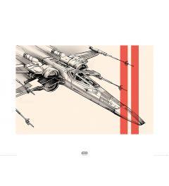 Star Wars X-Wing Pencil Art Print 60x80cm