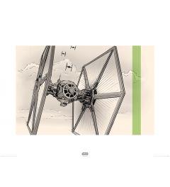 Star Wars TIE Fighter Pencil Art Print 60x80cm