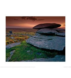 Mark Squire Cheesewring Bodmin Moor Art Print 40x50cm