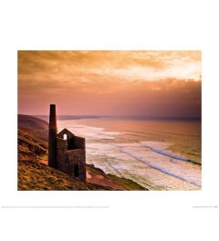 Mark Squire Sunset at Wheal Coates Engine House Art Print 40x50cm