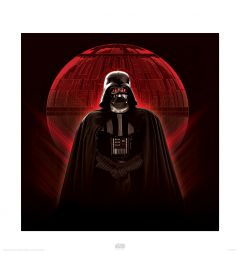 Star Wars Darth Vader & Death Star Art Print 40x40cm
