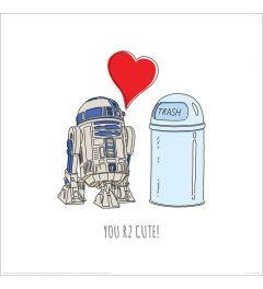 Star Wars You R2 Cute Art Print 40x40cm