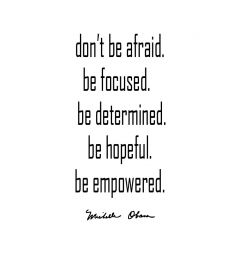 Be Empowered Michelle Obama Art Print