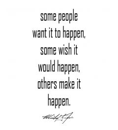 Make It Happen Michael Jordan Art Print