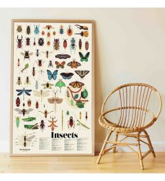 Poppik Insects Sticker Poster 68x100cm