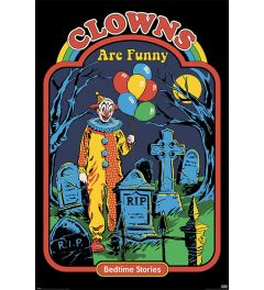 Steven Rhodes Clowns are Funny Poster 61x91.5cm
