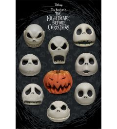 Nightmare Before Christmas Many Faces of Jack Poster 61x91.5cm