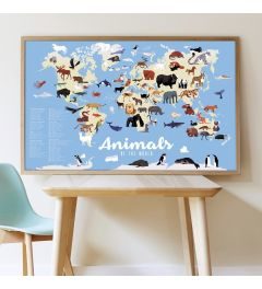 Poppik Animals of the World Sticker Poster 100x68cm