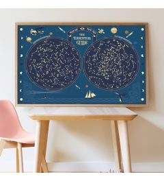 Poppik Skymap Glow In The Dark Stars Sticker Poster 100x68cm