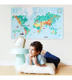 Poppik World Map Sticker Poster 100x60cm