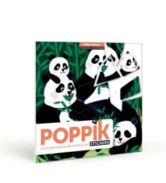 Poppik Wild Animals Sticker Cards 18x18cm