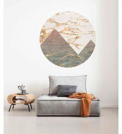 Precious Peaks Self-adhesive Wallpaper Circle ⌀125cm