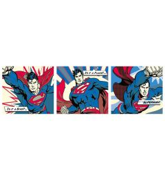 Superman - Pop Art - Triptych
