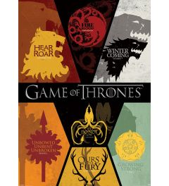 Game Of Thrones Sigils Poster 100x140cm