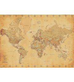 Wereldkaart - Vintage Style