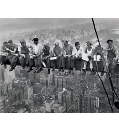 Lunch on a Skyscraper Poster 40x50cm