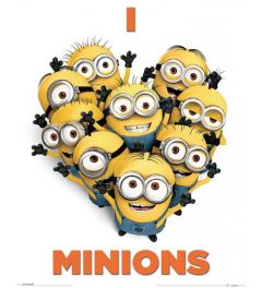 Despicable Me 2 I Love Minions Poster 40x50cm