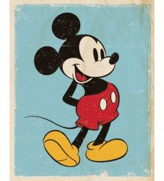 Mickey Mouse Poster Retro 40x50cm